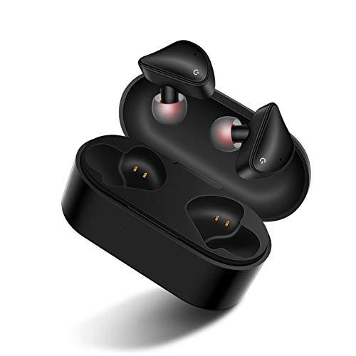 PNCS Ecouteur sans Fil Jumelage Automatique de Corps Compatible Bluetooth V5.0 Smart Compatible avec des Cadeaux de Voyage en Plein air,Black