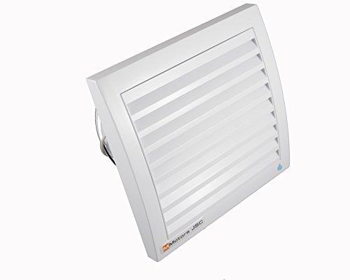 MM Ventilatoren | Badlüfter MM 100 FT | quadratisch | Ø 100 mm | Leistungsstarker Badventilator 105 m3/Stunde | mit Feuchtigkeitssensor, Nachlauf- Timer, Rückstauklappe, Kugellager | weiß