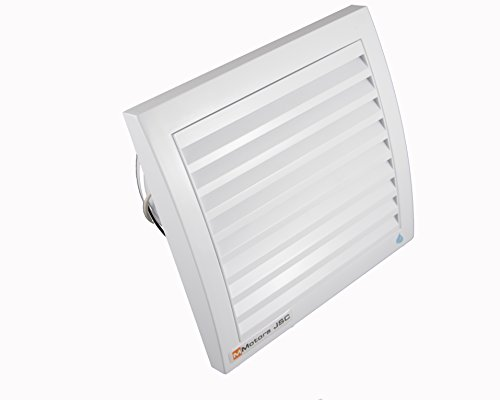 MM Ventilatoren | Badlüfter MM 100 | Leise 29 dB (3 m) | Rückstauklappe | Kugellager | Leistungsstark 105 m3/Stunde | Ø 100 mm | quadratisch | weiß