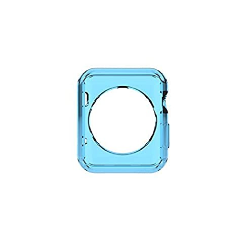 Slim Bumper Protection TPU Housse Housse pour Apple Watch iWatch Series 2nd Gen 38mm/42mm (42mm, Bleu clair)