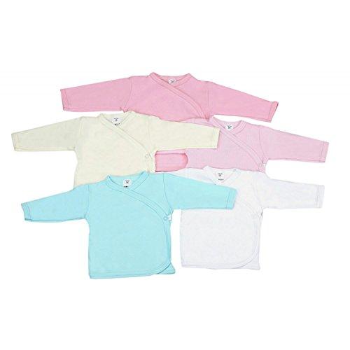 TupTam Unisex Baby Langarm Wickelshirt 5er Set, Farbe: Mädchen, Größe: 80