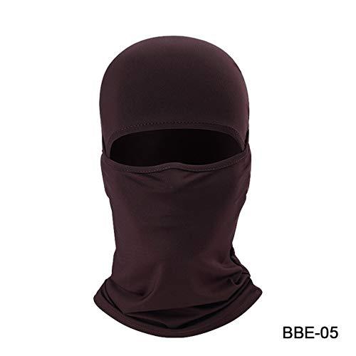 Viviki Winter Motorrad Gesichtsmaske Lycra Moto Balaclava Biker Gesichtsschutz Ski Mask Stopper Winddicht Motorrad Maske-New Brown -