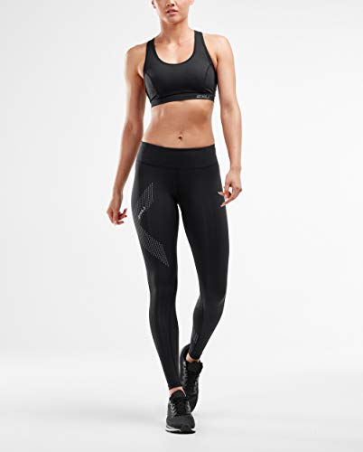 2XU Damen Hose Mid-Rise Compression Tights, Ink/Chp, S, WA2864b