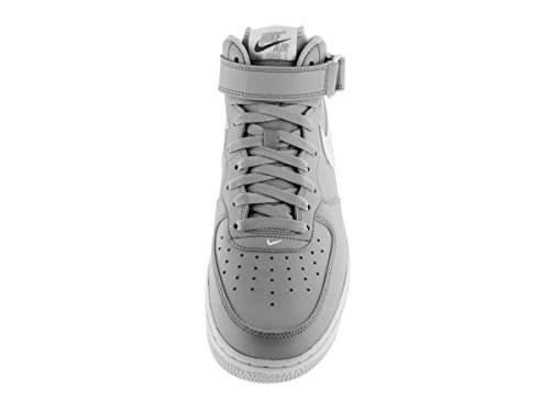Nike Herren Air Force 1 Mid '07 Basketballschuhe, Blau Gris / Blanco (Wolf Grey / White)