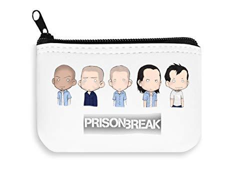Prison Break 5 Characters Painted Zipper Wallet Coin Pocket Purse Billetera