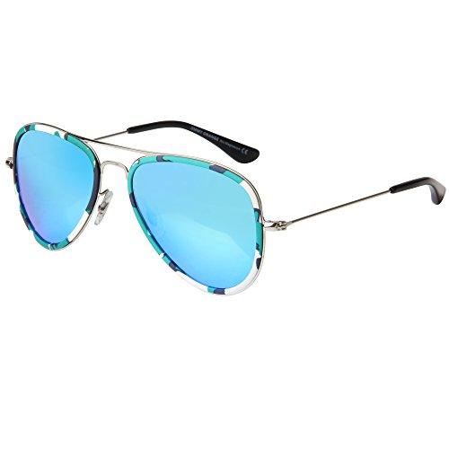 JO Damen Sonnenbrille 56 Gr. 56, camo frame blue lens