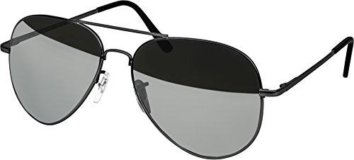 Balinco Hochwertige Pilotenbrille Sonnenbrille 70er Jahre Herren & Damen Sunglasses Fliegerbrille verspiegelt (Grey/Matt - Silver)