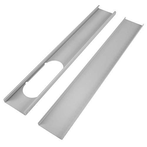 Coomir 2 Stück 1,3 m Einstellbare Fenster Kit Schlauch Extractor/Rohrverbinder für tragbare Klimaanlage (1.3m) (Abdichten Stuck)