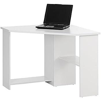 corner home office desk color white finish