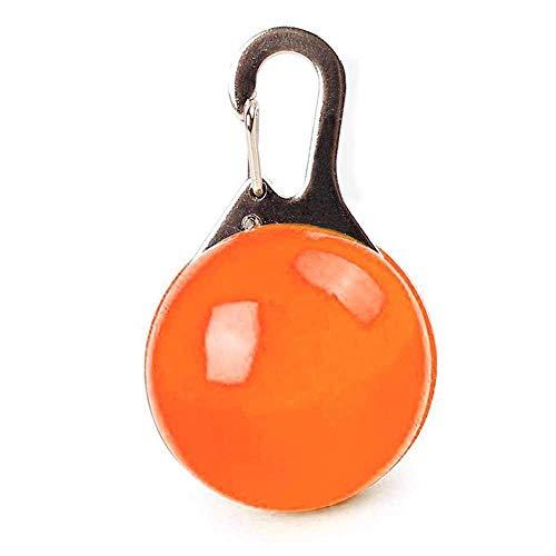 (Umiwe Haustier LED Sicherheits Leucht Anhänger, Wasserdicht Circular Haustier Zubehör Clip on Hunde LED Licht Halskette Bunte Licht für Läufer Fahrradfahrer Tiere wie Katze Haustier (Orange))