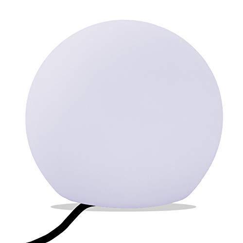PK Green Erstklassige LED Tischlampe Kugel | Glühbirne E27 Weiß Installiert | 25cm Kugelleuchte Tischleuchte Modern für Wohnzimmer, Schlafzimmer, Kinderzimmer | Leuchtobjekt Dekolampe Design