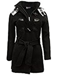 SS7 Women's Plus Size Check Hooded Duffle Coat 16 18 20 22 24 26 28