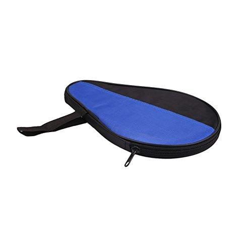 Cewaal Wasserdichte Tischtennis-Racket-Koffer Paddel Bat Cover Tasche mit Aufbewahrungsbeutel