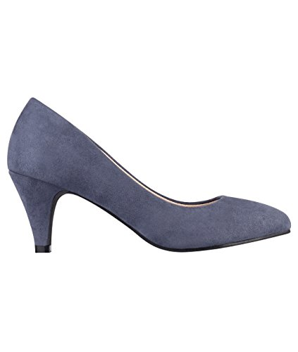 5792-NVY-6, KRISP Zapatos Tacón Salón Elegantes