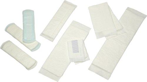 EURON Rechteckvorlagen | 200 Stück | 11x36 cm | Wöchnerinnenvorlagen | extra saugstark für ein hygienisches Gefühl | bei Inkontinenz und Wochenbett | sicher und sauberer Wäscheschutz