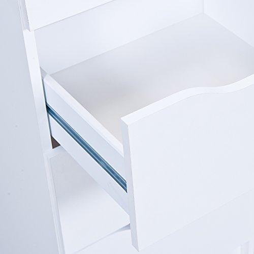 Inter Link Commode chevet panneaux de particules décor blanc