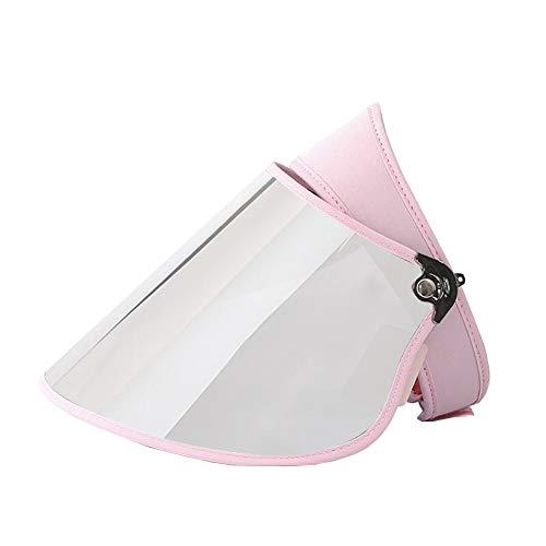 DALL Sonnenhüte Damen Sommer Leere Zylinderhut Masken-Hut Einstellbarer Winkel Wide Brim UV-Schutz 50-59 cm (Farbe : Rosa, größe : Silver Lens)