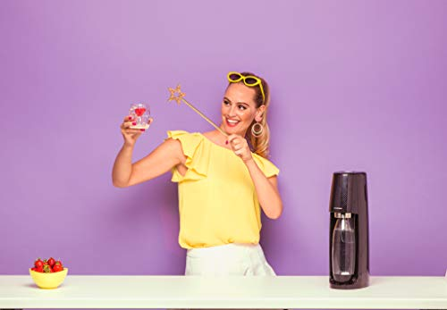 SodaStream Easy Wassersprudler zum Sprudeln von Leitungswasser, macht aus Leitungswasser Sprudelwasser – ohne schleppen. mit 1 Zylinder und 1L PET Flasche (BPA frei); Farbe: schwarz - 6