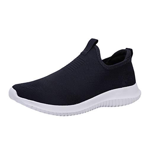 Chaussures De Course Sport Running Mesh Respirantes Confortable Léger Basket Basse Pas Cher Chaussures sans Lacets Casual Sneakers Homme
