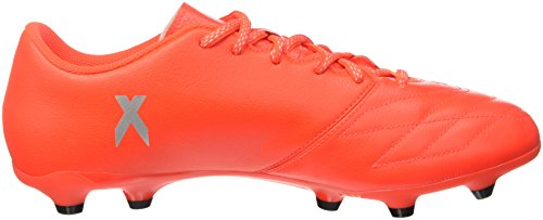 adidas X 16.3 Fg Leather, Scarpe da Calcio Uomo Rosso (Solar Red/Silver Metallic/Hi-Res Red)