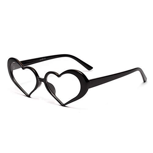 ZHAOSHUNAN Sonnenbrillen Damen-Nette Rosa Sonnenbrille-Frauen Transparente Ozean-Objektiv-Herz-Geformte Sonnenbrille, A