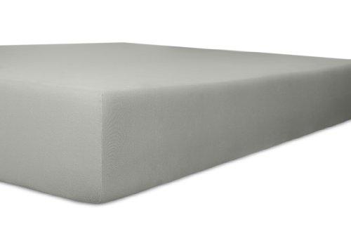 Kneer 2231884 Vario-Stretch Topper-Spannbetttuch für Boxspringbetten 180/200 cm, Höhe 4-12 cm, Schiefer