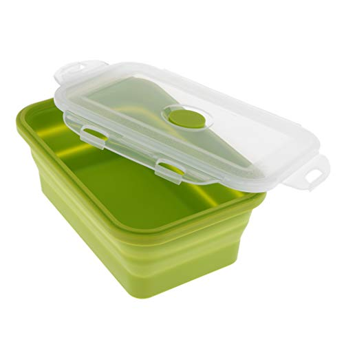 FLAMEER Tragbar Camping-Schüssel, Faltschüssel perfekt für Haus oder Küche - 1200ML Grün