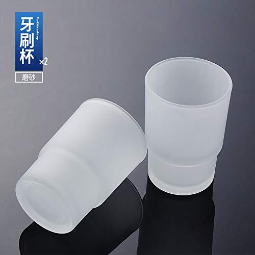 Amgend Bad Klarglas Becher Tasse Matt Seifenschale Hotel Zahnbürste Tasse Kreative Seifenkiste, Matt Tasse (Paar Preis) -
