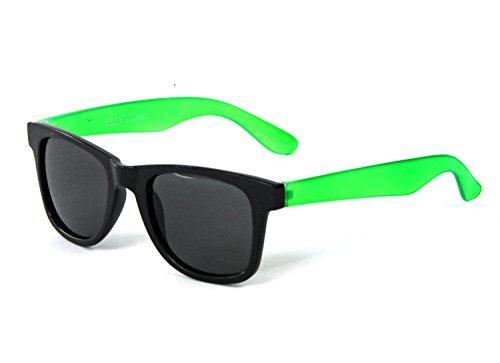 Nerd Clear Brille Sonnenbrille Grün Schwarz Wayfarer Nerdbrille Pantobrille Geek