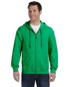 Gildan - Kapuzen-Sweatjacke 'Heavyweight Full Zip' / Irish Green, S (Zip-up Hoodie Irish)