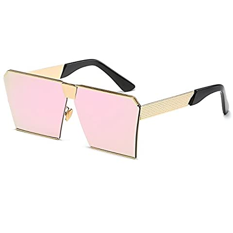CVOO Square Sunglasses Men Or Women Retro Metal Big Glasses Oversized Driving Vintage Party Sunglasses