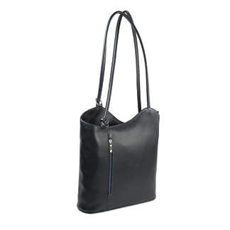 31a4lGtdsJL. SS324  - Bolso italiano de piel Belli,mochila Belli, para mujer, mochila de piel, en diferentes colores, de piel fina, 28 x 28 x 8cm (ancho x alto x fondo)