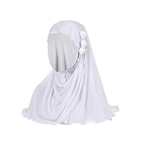 ZEELIY Mode Muslimische Hijab Sommer Kopftuch Ice Silk Atmungsaktive Blume Quaste Turban Hut