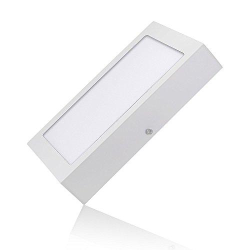 LED Aufbauspot SPIN, quadrat, flach, LED Panellampe kaltweiß, 6w LED Aufbaustrahler, LED Deckenspot 6400k, 540 Lumen, Durchmesser: Ø12 Rechteck, Aufbau Panel IP20, LED Aufputz-Montage Deckenleuchte