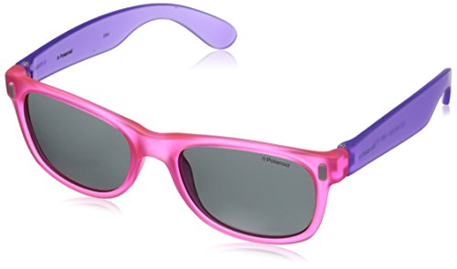 Polaroid Unisex - Kinder Rechteckig Sonnenbrille P0115, Gr. One Size, Mehrfarbig (VIOLA ROSA FLUO)
