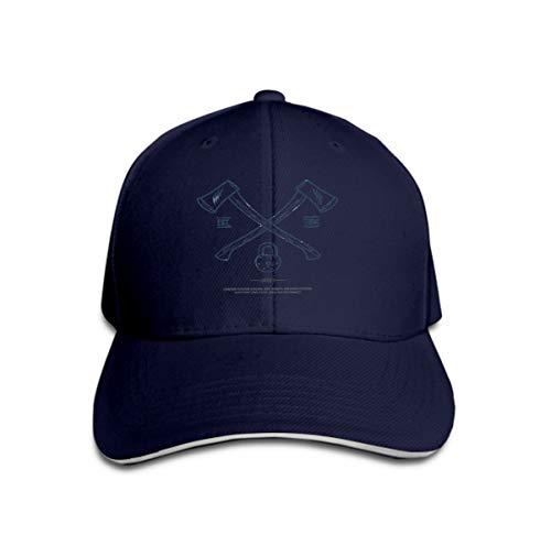 Men's Baseball Caps Fashion Adjustable Sandwich Cap ed Axes Padlock Print