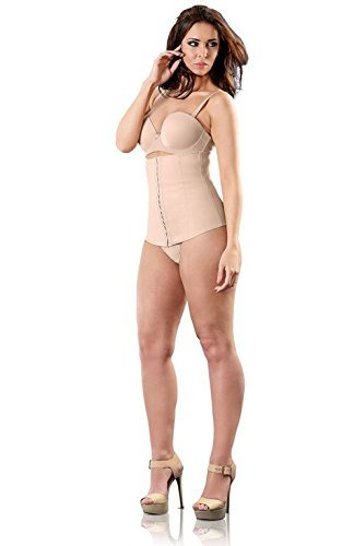 Esbelt Brazilian Bodywear Slimming Corset - Waist Cinchers for women, Corset Lingerie Top (Medium, Nude)