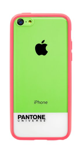 Case Scenario Pantone Universe Schutzhülle Case Cover für iPhone 5c - Transparent mit Pink Pink
