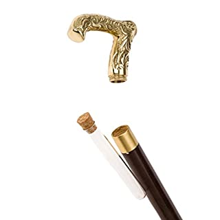 Hiking stick cane deco theater wedding vial container glass for brandy