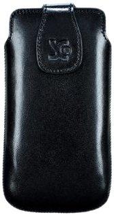 Original Suncase Echt Ledertasche (Magnetverschluss) für Sony Xperia Miro in