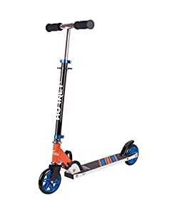 Hornet 14512 - Patinete 120, Big Wheel Scooter, Cubo de Roller, Kick de Scooter, Azul/Naranja
