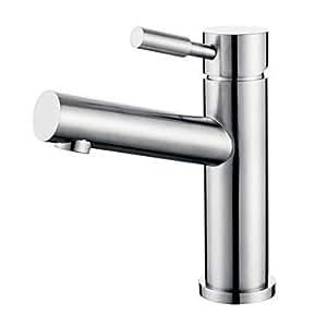 BEY Modernes Design Edelstahl gebürstet Waschbecken Wasserhahn