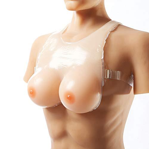 Kostüm Medizinische Patienten - CLHK Silikon Brust Gefälschte Brüste Formen Mastektomie-Patienten Prothese Für Crossdresser Transgender Kostüm,Haut,2XL(DDCup)