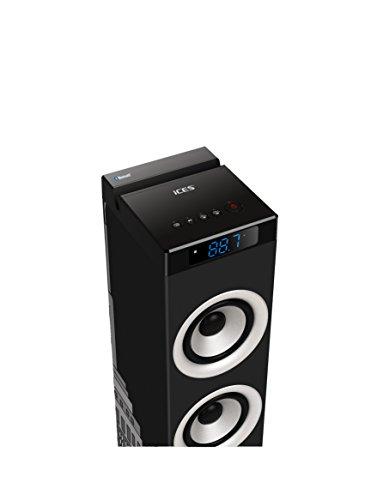 iCES IBT-5 NY Liberty Turmlautsprecher (Bluetooth, FM Radio, USB, AUX-Eingang) mit Fernbedienung - 3