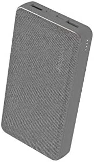 Energizer UE20043, 15000mAh Power Bank with Premium Design and LED, 2 USB-A Output Ports, USB-C and Micro-USB