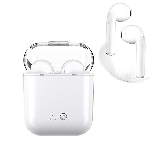 Auriculares Bluetooth, blancos Auriculares inalámbricos Auriculares intrauditivos Manos libres Auriculares con cancelación de ruido Compatible con iPhone XR X 8 7 6 y más Samsung Galaxy S9 Ect.