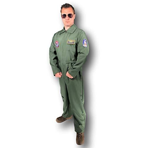 Kostüm Und Flugbegleiter Kapitän - Rubber Johnnies TM Erwachsene Herren Piloten Kostüm Kapitän Flieger-Anzug Flugbegleiter Kostüm Aviator