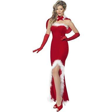 Witwe Rote Kostüm - HAOBAO Party Kostüme Santa Anzüge Fest/Feiertage Halloween Kostüme Rot Patchwork Kleid/Handschuhe Weihnachten/Karneval/Silvester Frau, 10 * 5