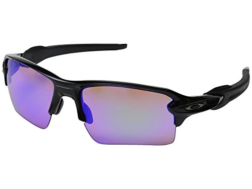 Oakley, Occhiali da sole Flak 2.0, Nero (Polished Black/Prizm Trail), Taglia unica