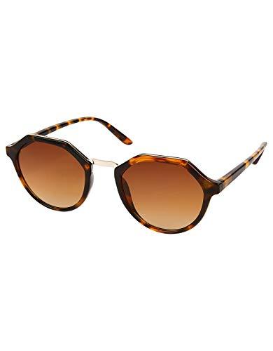 Accessorize Damen Hazel sechseckige Sonnenbrille Sonnenbrillen - Einheitsgröße